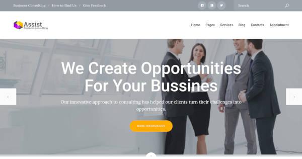 assist corporate wordpress theme