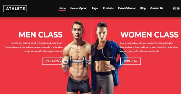 athlete flexible fitness wordpress theme