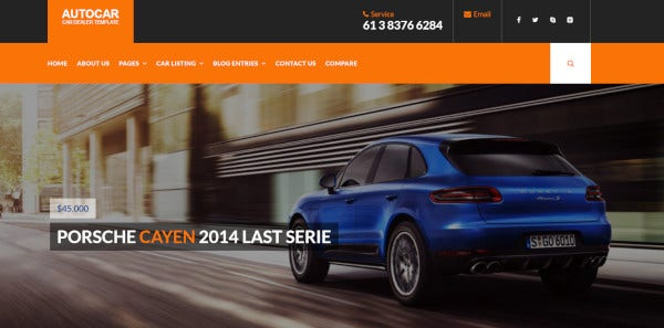 auto car colourful wordpress theme