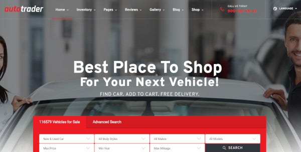autotrader responsive wordpress theme