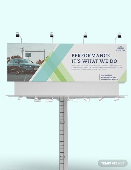 automobile repair billboard