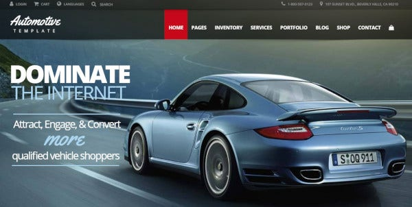 automotive wordpress theme1
