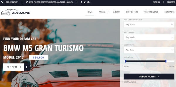 autozone responsive wordpress theme