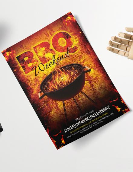BBQ Weekend Party Flyer Design