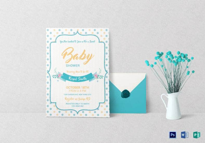 baby girl shower invitation template 788x552