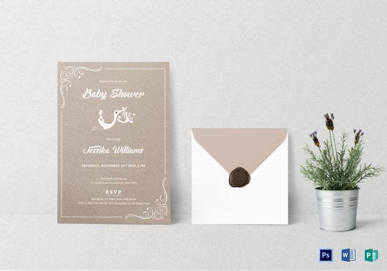 baby shower invitation template 788x552