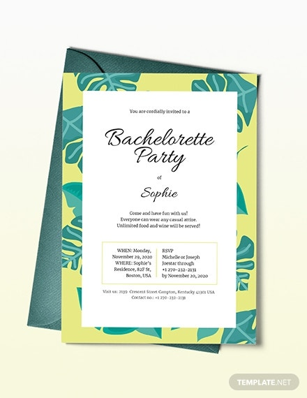 bachelorette party invitation format