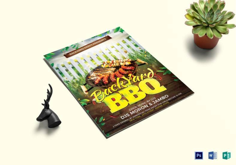 backyard bbq flyer template 788x552