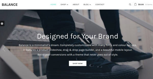 balance one click demo content importer wordpress theme