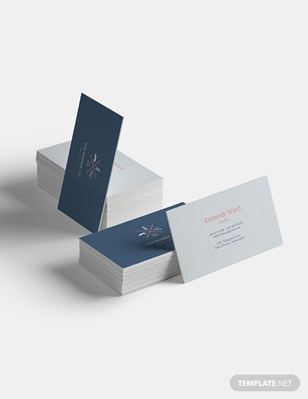 barber company business card format
