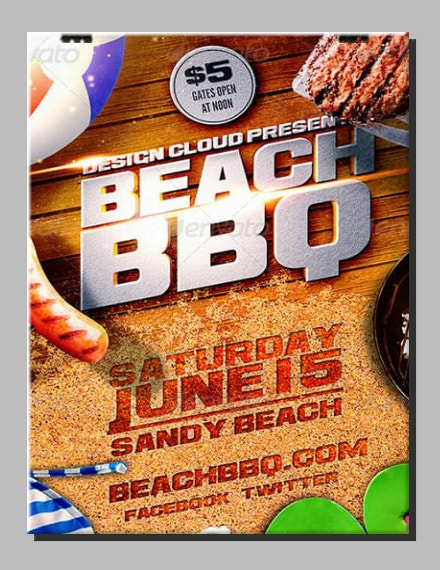 Beach BBQ Party Flyer Example