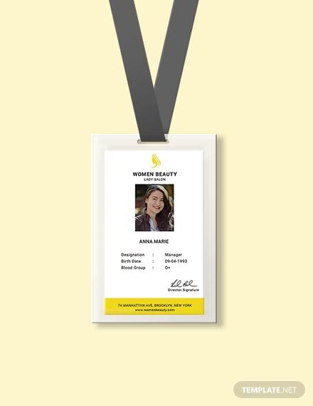 beauty parlour identity card 440