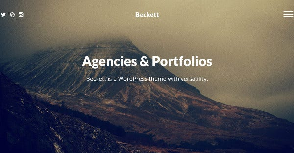 beckett video support wordpress theme