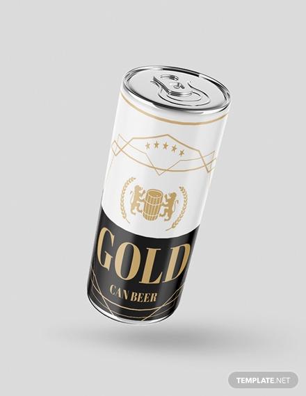 beer can label design