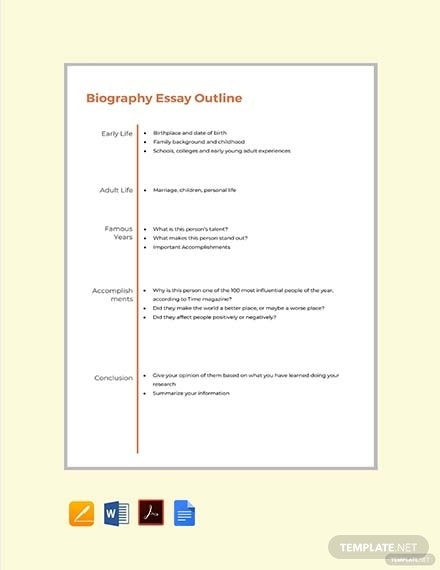 biography essay outline format template1