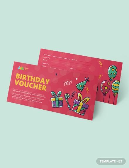 birthday coupon template 1