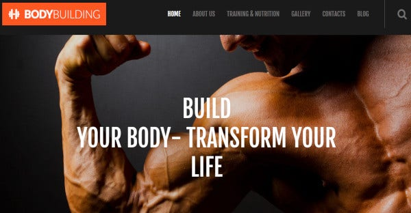 bodybuilding multifunctional wordpress theme