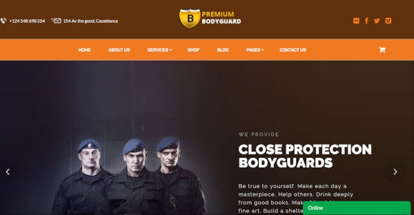 bodyguard – cctv and security wordpress theme