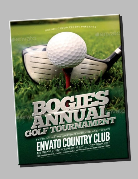 Bogies Annual Golf Tournament Flyer