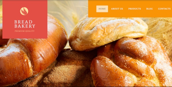 bread bakery café wordpress theme