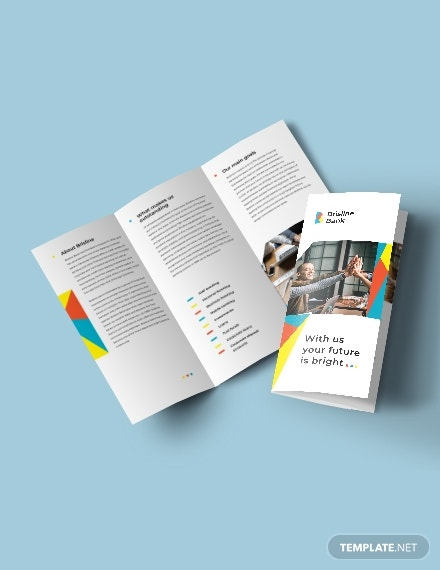 business banking tri fold brochure sample