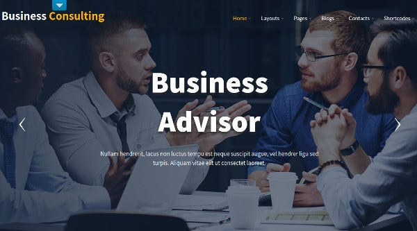 business consulting fully responsive wordpress theme