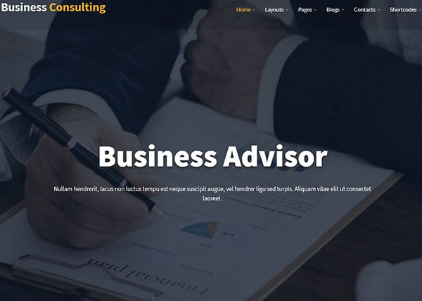 Business Consulting - SEO Plugin Powered WordPress Theme