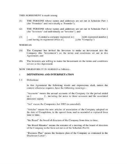 business investment agreement 01