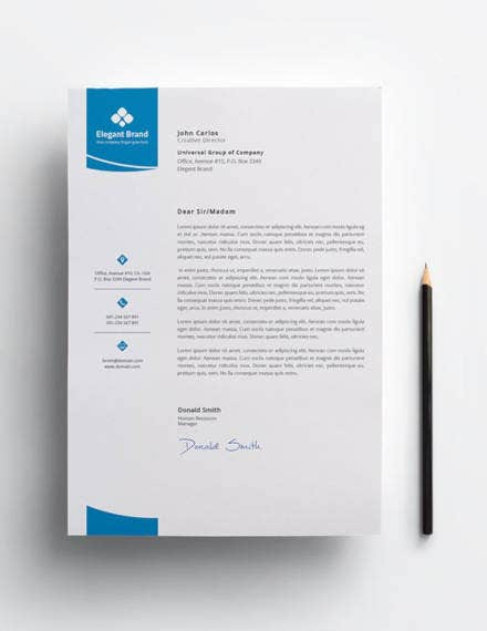 business letterhead template3