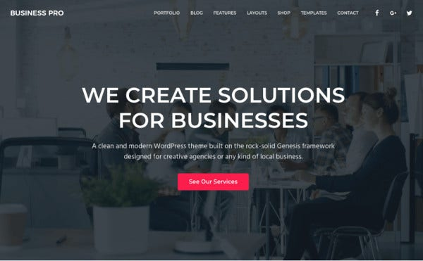 business pro mobile responsive wordpress theme