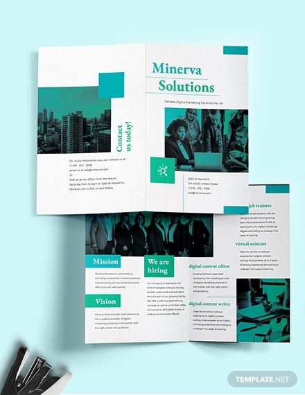 business training bi fold brochure template