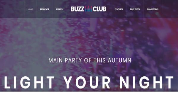 buzz club – entertaining smart wp nightclub theme
