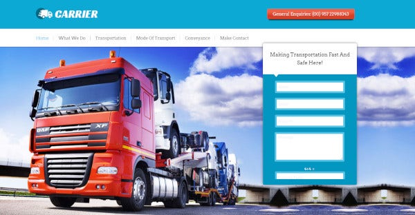 carrier – transportation wordpress theme