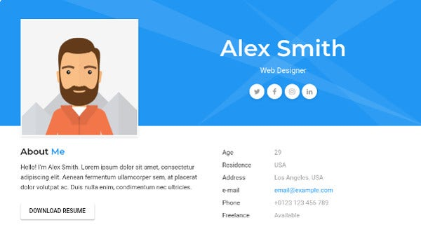 cv-resume-vcard-theme-animated-wordpress-theme