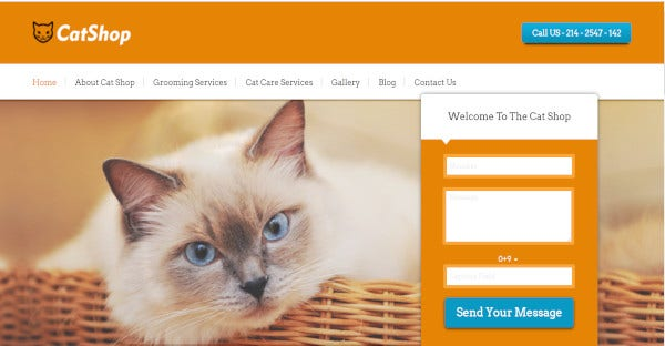 catshop cats and kittents wordpress theme