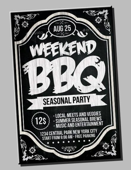Chalkboard BBQ Party Flyer Sample