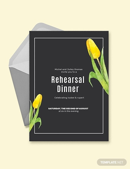 chalkboard rehearsal party invitation template