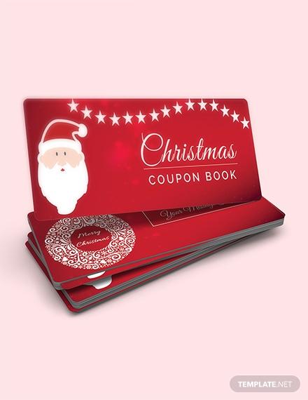 christmas blank coupons 1x