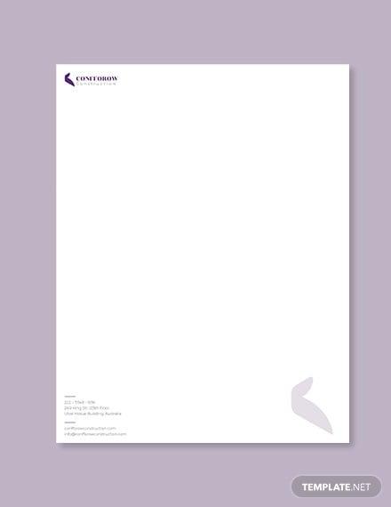 civil contractor letterhead template