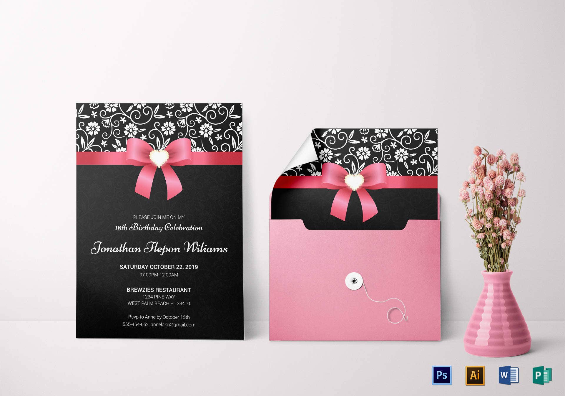 3+ Classic Debut Invitation Card Templates  Free & Premium Templates