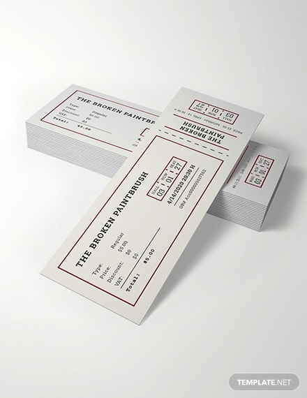 clean minimalist movie ticket example