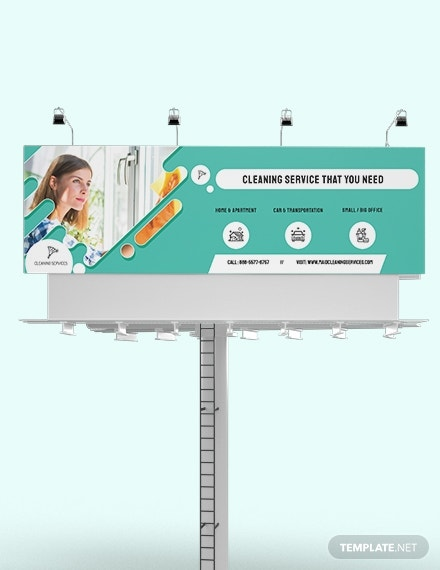 cleaning services billboard template