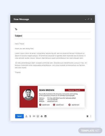 coach email signature