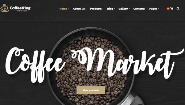 coffee king parallax effects wordpress theme1
