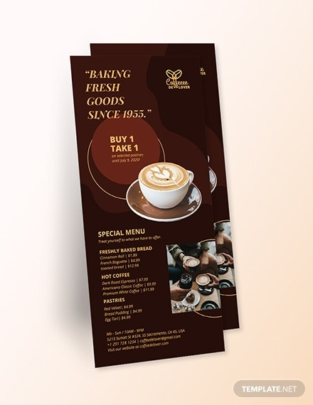 coffee shop rack card template1