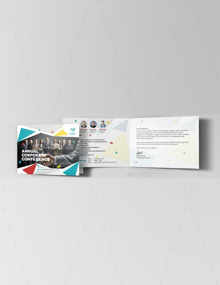 colorful business conference invitation sample