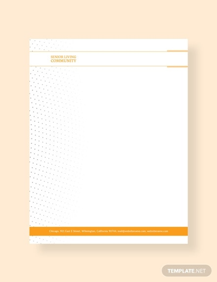 community service letterhead template m1x 1