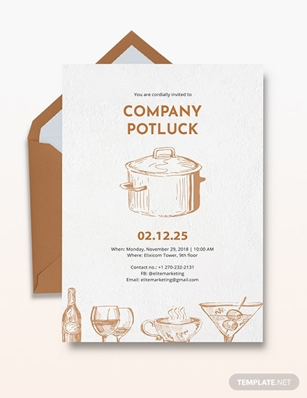 company potluck invitation sample