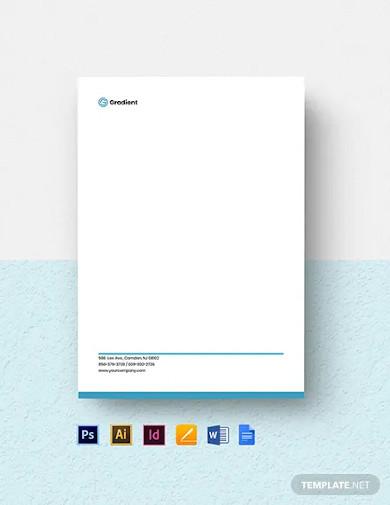 computer software company letterhead template