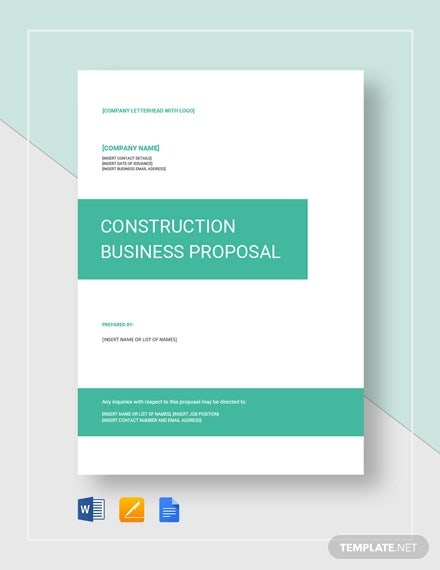 Construction Business Proposal Sample